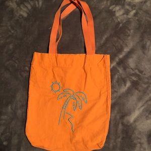 Orange Palm Tree/Sunshine Bag.  NWOT.